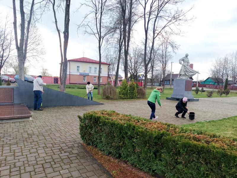 мемориал уборка закрепл.терр-и
