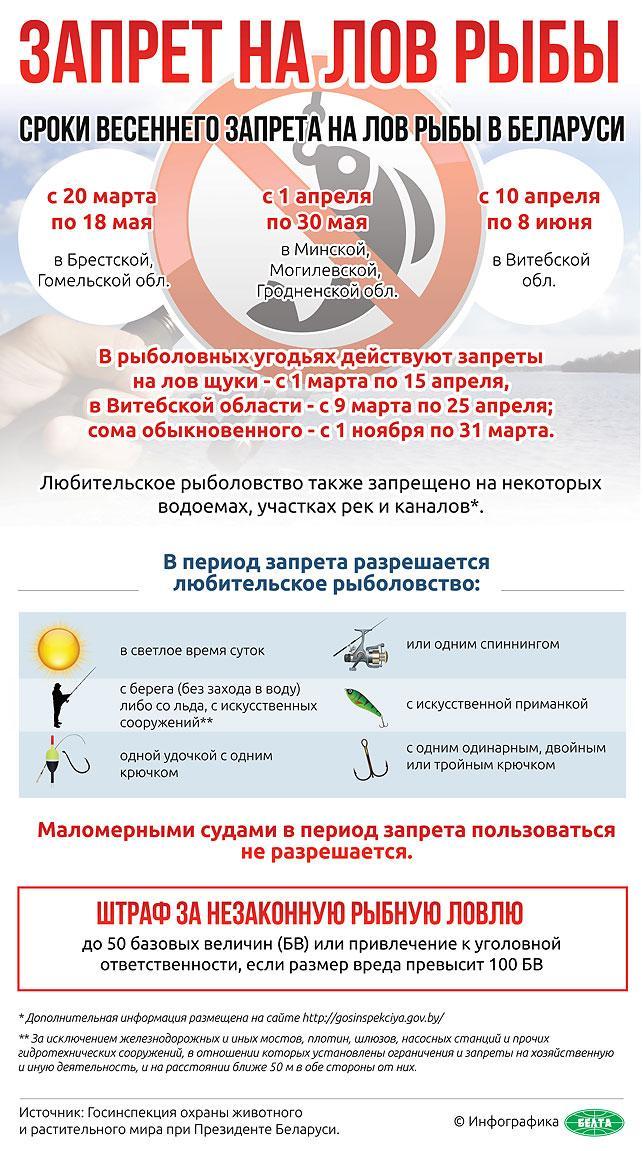 запрет на рыбалку 2017 по областям