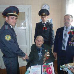 Посещение ветерана ВОВ войны Гапончика Г.Б. сотрудниками Новобелицкого (г.Гомеля) ОДО