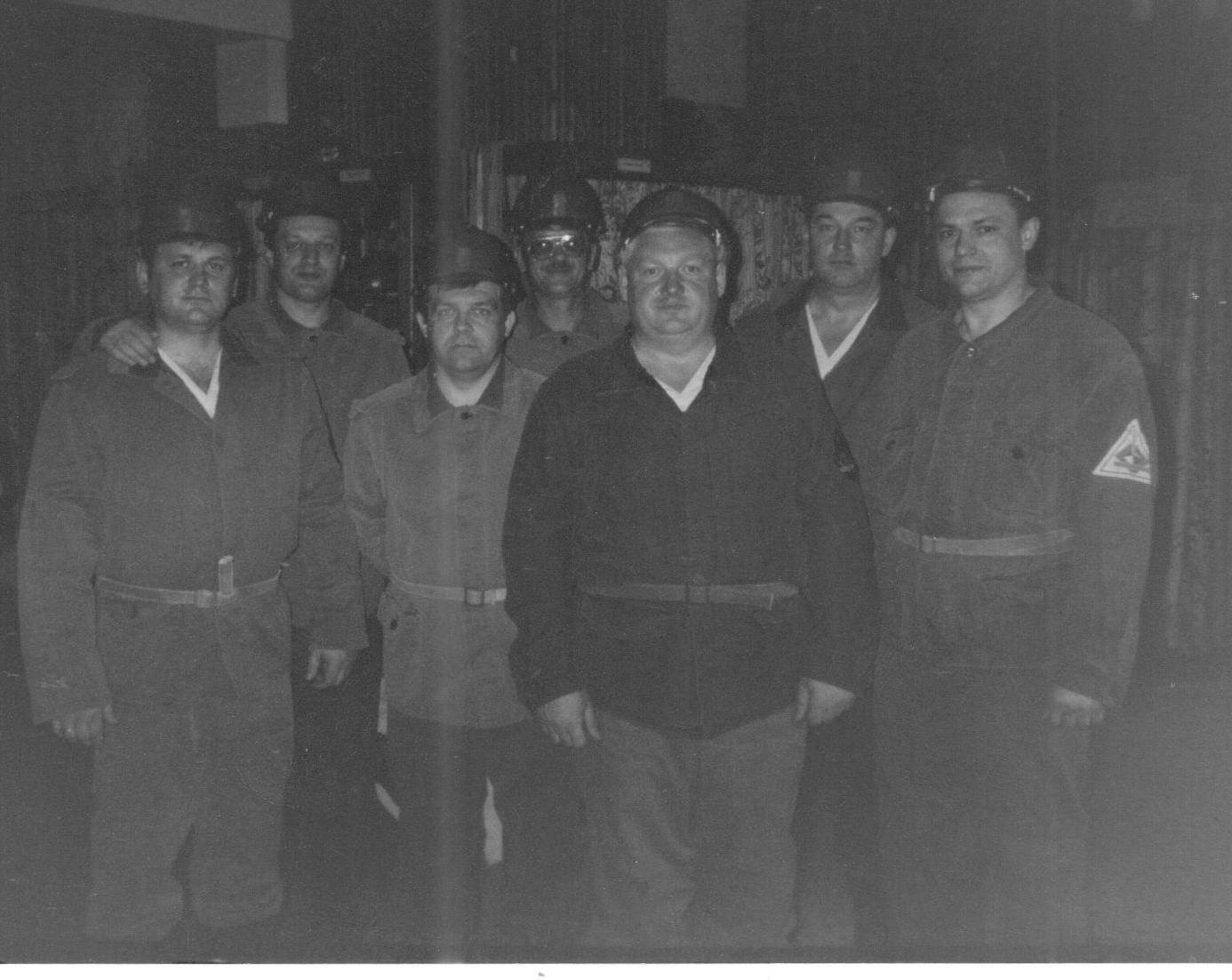 Блашенков В.А. с делегацией ДО и МВД на экскурсии в шахте