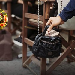Pickpocketing At The Street Cafe During Daytime